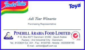 my business card english